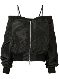 Andrea Yaaqov куртка-бомбер с открытыми плечами