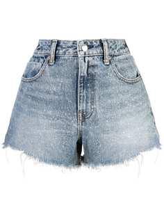 Alexander Wang джинсовые шорты с необработанными краями