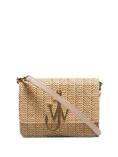 JW Anderson соломенная сумка через плечо с логотипом