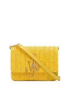 JW Anderson соломенная сумка с логотипом