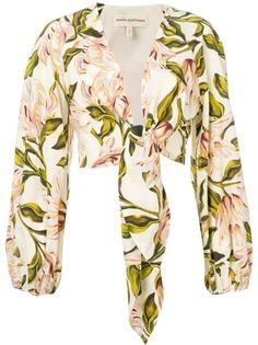 Mara Hoffman рубашка с цветочным принтом