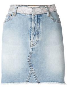 Alexandre Vauthier джинсовая юбка с кристаллами