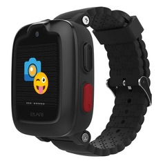 """Смарт-часы ELARI KidPhone-3G, 15мм, 1.3"""", черный / черный"""