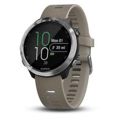 "Смарт-часы GARMIN Forerunner 645 Sandstone, 42.5мм, 1.2"", черный/серебристый / бежевый [010-01863-11]"