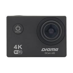 Экшн-камера DIGMA DiCam 400 4K, WiFi, черный [dc400]
