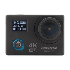 Экшн-камера DIGMA DiCam 700 4K, WiFi, черный [dc700]