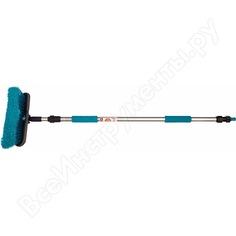 Телескопическая щетка для мытья автомобиля 92/161 см zeus zb003