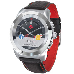 Смарт-часы MyKronoz ZeTime Regular Premium Pol.Silver BlackCarbon Red