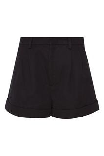 Черные шорты из хлопка и льна Isabel Marant