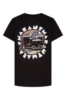 Черная футболка с коллажным принтом Isabel Marant