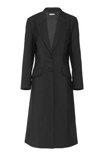 Приталенное пальто-смокинг Miu Miu