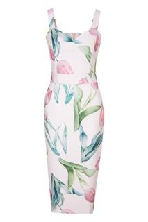 Розовое платье с тюльпанами Fashion.Love.Story.