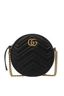 Круглая сумка-кроссбоди GG Marmont Gucci