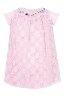 Розовое платье Gucci