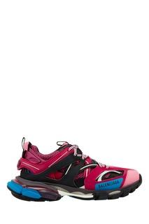 Черно-сине-розовые кроссовки Track Balenciaga