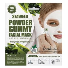 LOOK AT ME Маска для лица альгинатная очищающая и восстанавливающая упругость кожи с экстрактом морских водорослей