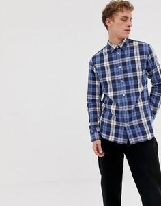 Темно-синяя рубашка в клетку классического кроя Selected Homme - Темно-синий
