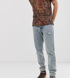 Выбеленные джинсы с состаренной отделкой Heart & Dagger - Синий