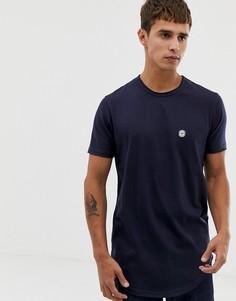 Длинная футболка Le Breve - Темно-синий