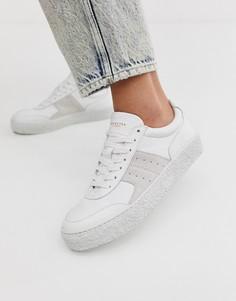Кожаные кроссовки с замшевой отделкой Selected Femme - Белый