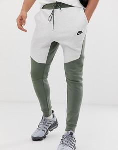 Бежевые флисовые джоггеры Nike Tech - Бежевый