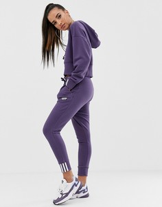 Фиолетовые джоггеры с манжетами adidas Originals RYV - Фиолетовый