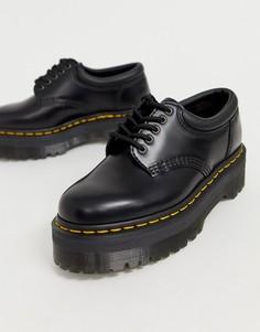 Черные кожаные туфли Dr Martens Quad 5 - Черный