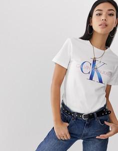 Джинсы с логотипом Calvin Klein Jeans reissue - Белый