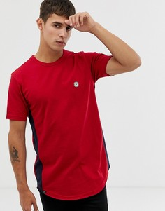 Длинная футболка с необработанным краем и полосками Le Breve - Красный