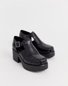 Черные кожаные туфли на каблуке Vagabond Dioon - Черный