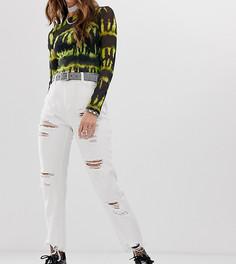 Джинсы в винтажном стиле с рваной отделкой One Above Another - Белый