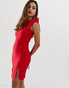 Облегающее платье с разрезами спереди Vesper - Красный