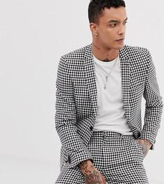 Приталенный пиджак в клетку Heart & Dagger - Мульти