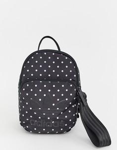 Черно-белый миниатюрный рюкзак adidas Originals - Черный