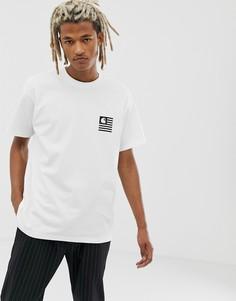 Белая футболка с принтом на спине Carhartt WIP State - Белый