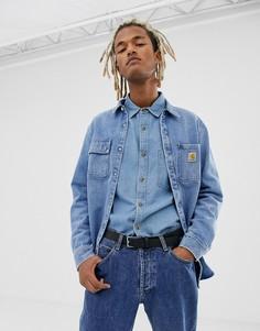 Голубая джинсовая куртка Carhartt WIP Salinac - Синий