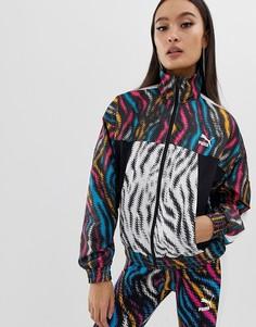 Укороченная куртка с принтом zebra Puma wild - Мульти