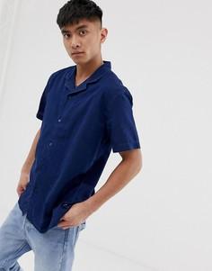 Джинсовая рубашка с короткими рукавами и отложным воротником Levis - Синий