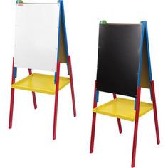 Доска-мольберт BRAUBERG Пифагор двусторонняя, черная/белая, 231997 для мела/маркеров 45x60