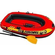 Надувная лодка Intex Explorer Pro 200 Set 196х102х33 см с пластиковыми веслами и насосом 58357