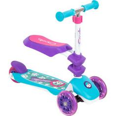 Самокат 3-х колесный Capella PUPPY turquoise+purple, (бирюзовый+фиолетовый) GL000568105