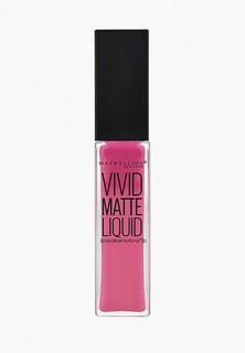 """Помада Maybelline New York для губ жидкая матовая """"Vivid Matte"""", оттенок 20 , Коралловый поцелуй, 7,7 мл"""