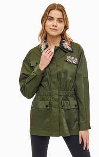 Куртка цвета хаки с декоративной отделкой Liu Jo