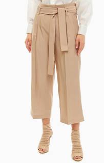 Бежевые брюки кюлоты из вискозы Liu Jo