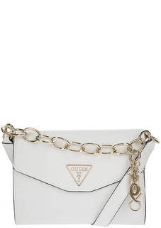 Белая сумка с откидным клапаном Guess