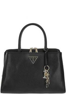Черная сумка через плечо с двумя отделами Guess