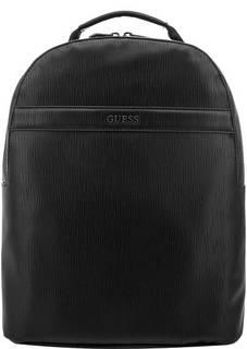 Черный рюкзак с одним отделом на молнии Guess