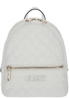 Стеганый рюкзак белого цвета Guess