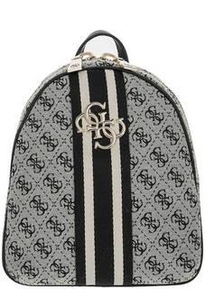 Текстильный рюкзак с монограммой бренда Guess
