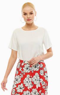 Блуза из вискозы белого цвета B.Young